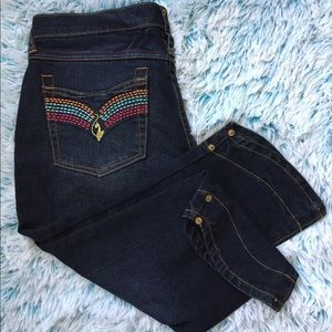 Baby phat women's cropped jeans size 9